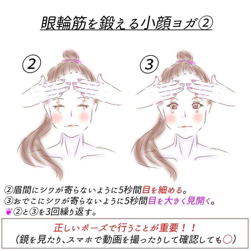 眼輪筋を鍛える小顔ヨガ_3
