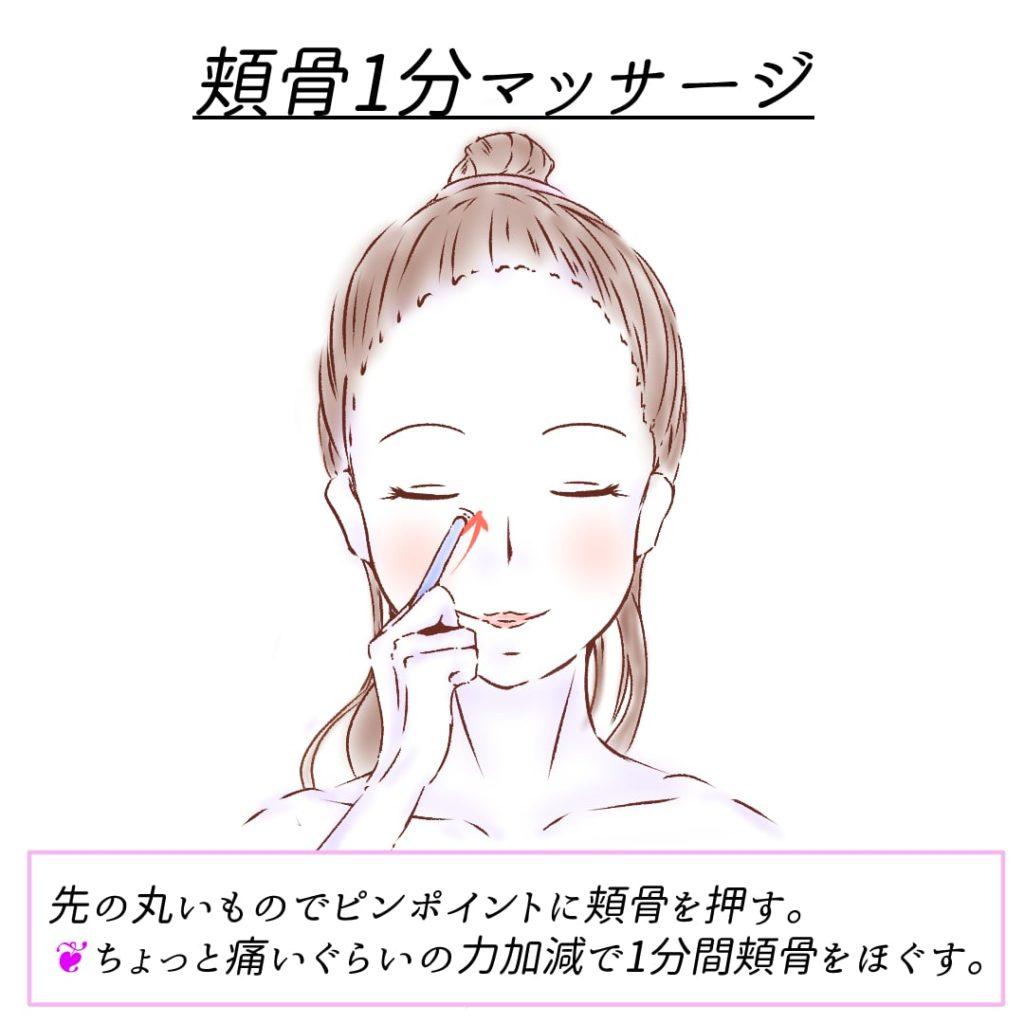 頬骨1分マッサージ3