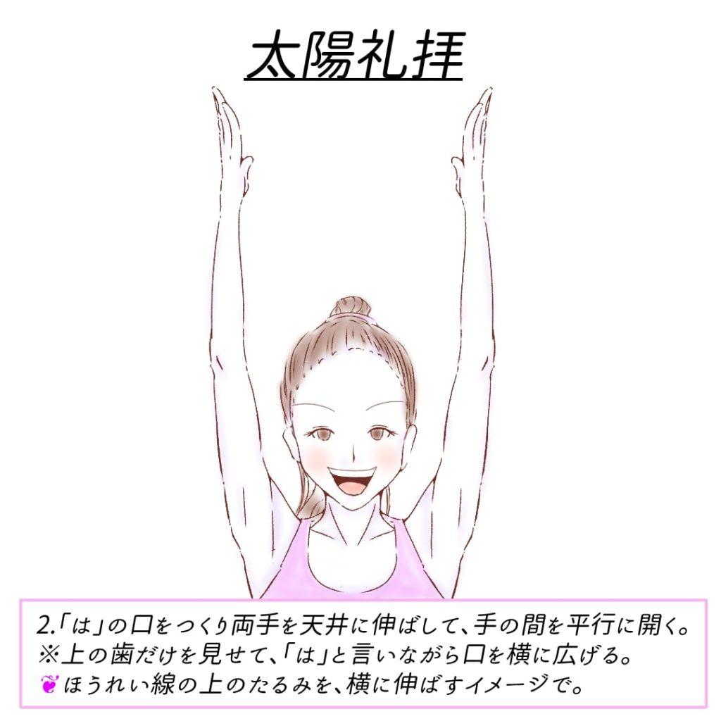 顔ヨガ_太陽礼拝3