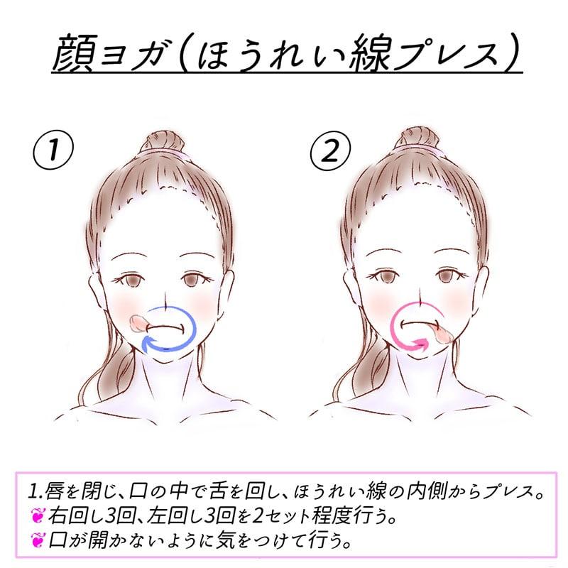 顔ヨガ(ほうれい線プレス)_2