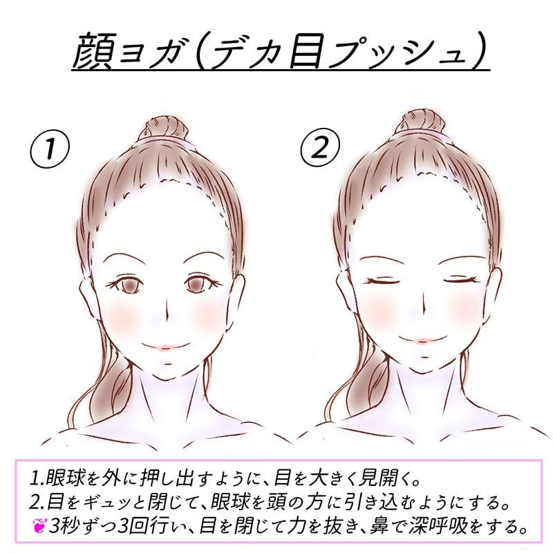 顔ヨガ(デカ目プッシュ)
